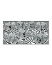 Beistle 50 Piece Assorted Mirage Party Favors - Silver/Black/White