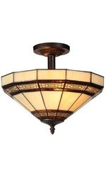 Addison 2-Light Semi Flush Mount Light - Oil Rubbed Bronze (202957891)