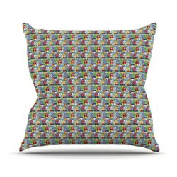 """Kess InHouse Holly Helgeson """"Reykjavik"""" Rainbow Pattern Outdoor Throw Pillow, 20 by 20-Inch"""