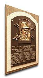 MLB Giants Orlando Cepeda Baseball Hall of Fame Plaque on Canvas