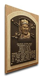 MLB Detroit Tigers George Kell Baseball Hall of Fame Plaque - Brown