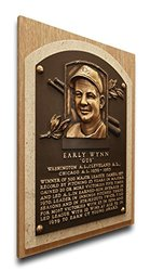 MLB Cleveland Indians Early Wynn Baseball Hall of Fame Plaque - Brown