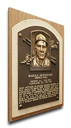 MLB Detroit Tigers Hal Newhouser Baseball Hall of Fame Plaque - Brown