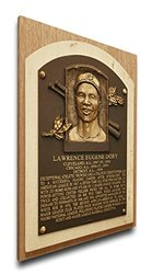 MLB Cleveland Indians Larry Doby Baseball Hall of Fame Plaque - Brown