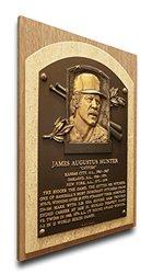 MLB Catfish Hunter Baseball Hall of Fame Plaque - Brown