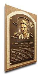 MLB Cleveland Indians Bob Lemon Baseball Hall of Fame Plaque - Brown