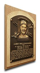 MLB St. Louis Cardinals Red Schoendienst Baseball Hall of Fame Plaque - Brown
