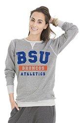 Venley NCAA Boise State Women's Crew Neck Sweatshirt - Tri-Grey - Size: XL