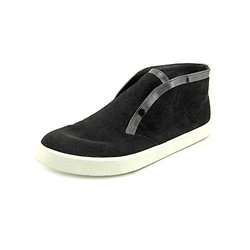Vince Patton Patent Leather-Trimmed Suede Slip-on Sneakers - Black - Size:7