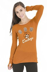 NCAA Oklahoma State Cowboys Women's Layla Long Sleeve Tee -Orange - Size:M