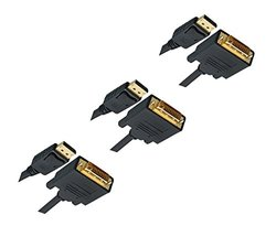 C&E DisplayPort to DVI Video Cable - 3-Pack - 10Ft (CNE461729)