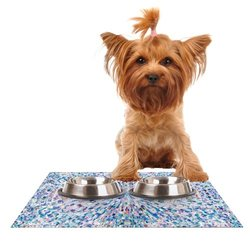 "Kess InHouse Kathryn Pledger ""Looking"" Feeding Mat for Pet Bowl, 24 by 15-Inch"