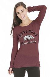 NCAA Arkansas Razorbacks Women's Layla Long Sleeve Tee - Crimson - Size: S
