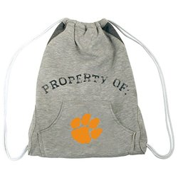 NCAA Clemson Tigers Hoodie Cinch Backpack, 14 x 17-Inch, Gray
