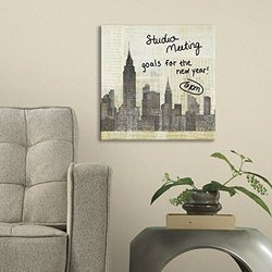 "RoomMates New York Skyline Canvas - 13.75"" x 13.75"""
