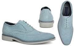 Joseph Abboud Men's Kelvin Brogue Shoes - Light Blue Suede - Size: 8.5