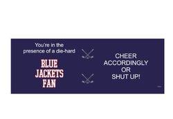 Tree-Free Greetings XM28176 Blue Jackets Hockey Fan Artful Jumbo Mug, 20-Ounce