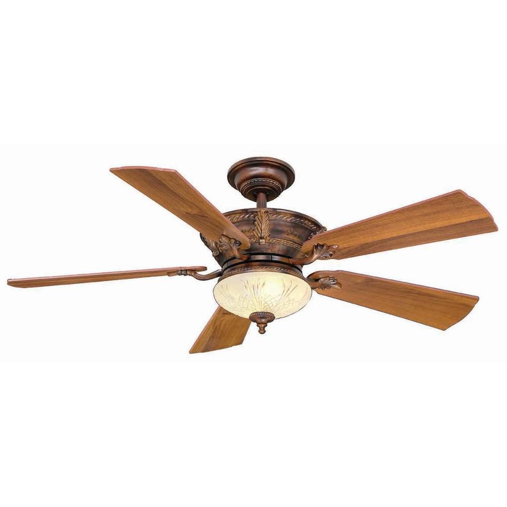 Hampton Bay Bercello Estates 52 In Volterra Bronze Ceiling Fan 34914
