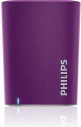 Philips Wireless Mini Portable Bluetooth Speaker - Violet (BT100V/27)