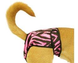 Seasonals Washable Dog Diaper, Fits Medium Dogs, Zebra