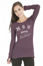 Mississippi State Bulldogs Women's Layla Long Sleeve Tee - Maroon - Size:M
