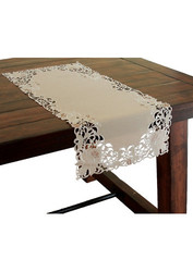"Xia Home Fashions Cutwork Christmas Table Runner - 15"" x 54"""
