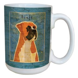 Tree-Free Greetings sg43998 Boxer by John W. Golden Ceramic Mug with Full-Sized Handle, 15-Ounce