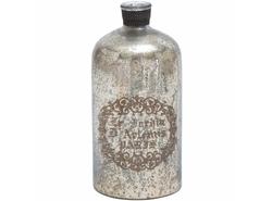 """UMA Glass Metal Decorative Bottle - Cole & Grey - Size: 15""""Hx7""""W"""