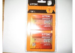 TDK 4-Pack 60min Mini Digital Video Camcorder Cassettes (37140)