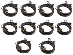 C&E 10 Feet SVGA 3.5mm Male to Male Audio Cable Double Shielded (10-pack)