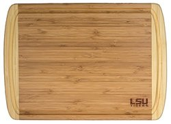 Totally Bamboo Rectangular Kona Groove LSU Cutting/Serving Board 18x12.5""