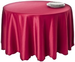 SARO LIFESTYLE LN201 Round Tablecloth Liners, 72-Inch, Red