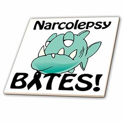 ct_115746_3 Narcolepsy Bites Awareness Ribbon Cause Design-Ceramic Tile, 8-Inch