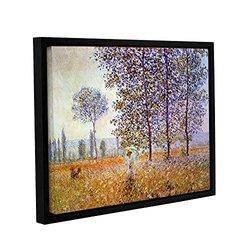 "ArtWall 18""x24"" Claude Monet's Poplars Gallery Wrapped Framed Canvas"
