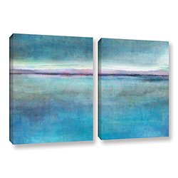 """ArtWall Cora Niele's Landscape Early 2 Piece Gallery Wrapped Canvas Set, 24 by 36"""""""