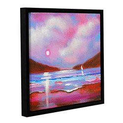 """ArtWall Susi Franco's Sail on Gallery Wrapped Floater-Framed Canvas, 18 by 18"""""""
