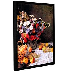 "ArtWall 18""x24"" Claude Monet's Flowers and Fruit Framed Canvas"