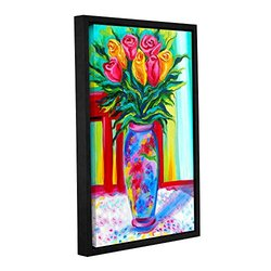 "ArtWall 16""x24"" I Love This Vase Gallery Wrapped Floater-Framed Canvas"