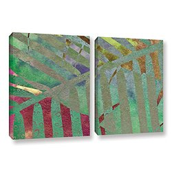 ArtWall Cora Niele's Leaf Shades II 2 Piece Gallery Wrapped Canvas Set, 24 by 36""