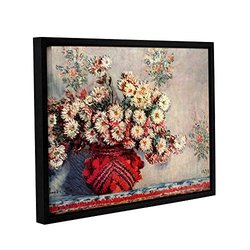 """ArtWall 18""""x24"""" Claude Monet's Red Vase Gallery Wrapped Framed Canvas"""