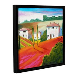 """Susi Franco's Provence Moonrise 2 Gallery Framed Canvas - 14"""" x 14"""""""