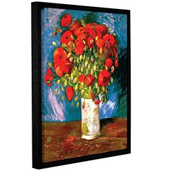 """Vincent Vangogh's Poppies Gallery Wrapped Floater-Framed Canvas - 18x24"""""""