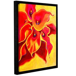 "Susi Franco's Red Calla Shadow Wrapped Framed Canvas - Size: 18"" x 24"""