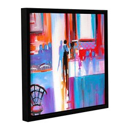 """ArtWall Susi Franco's Dinner Service Gallery Wrapped Floater-Framed Canvas, 14 by 14"""""""