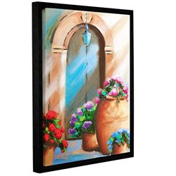 "Artwall Susi Franco's Tuscan Stoop Gallery Framed Canvas - 14"" X 18"""