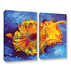 18in H X 18in W Two Sunflowers by Susi Franco - 2 Pieces