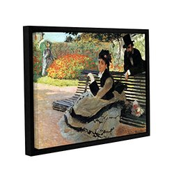 """ArtWall Claude Monet's """"Park Bench"""" Gallery Wrapped Framed Canvas - 18"""" x 24"""""""