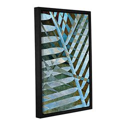 Cora Niele's Palm Gallery Wrapped Floater Framed Canvas - 16x24""