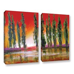 "ArtWall Susi Franco's Tuscan Cypress Sunset Canvas Set - 24"" X 32"" - 2Piece"