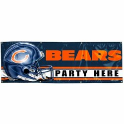 NFL Chicago Bears 2' x 6' Vinyl Banner